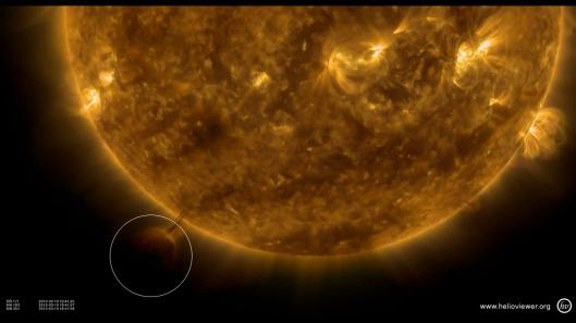 Giant ufo near Sun