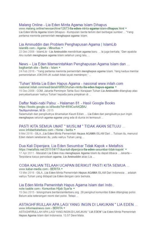 Google Search Eden meminta pemerintah menghapus agama Islam (10)