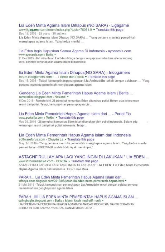 Google Search Eden meminta pemerintah menghapus agama Islam (11)