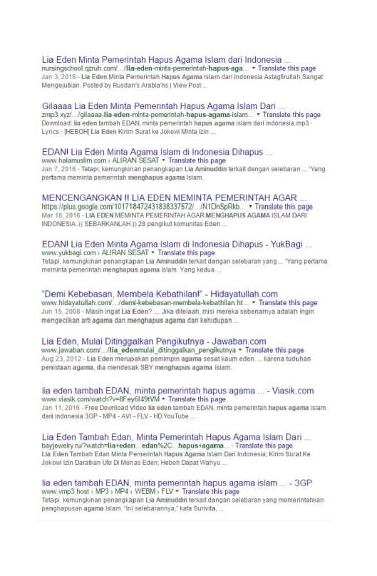 Google Search Eden meminta pemerintah menghapus agama Islam (12)