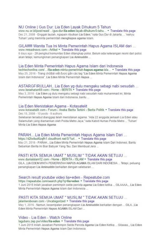 Google Search Eden meminta pemerintah menghapus agama Islam (13)
