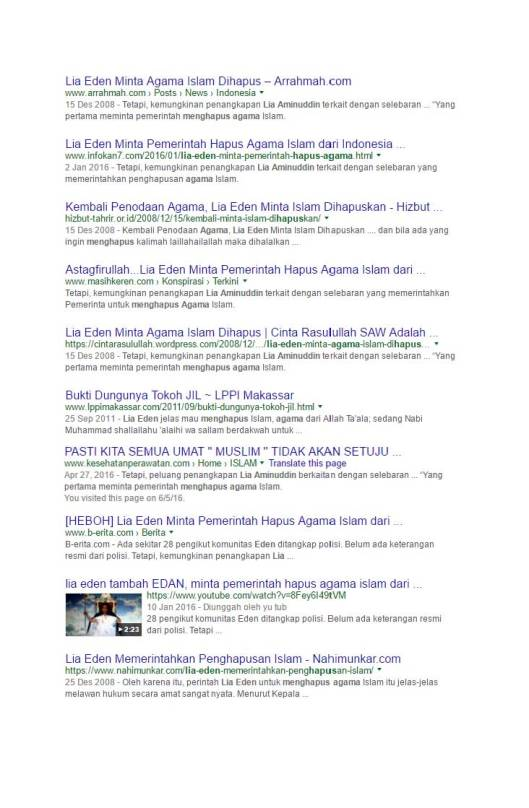 Google Search Eden meminta pemerintah menghapus agama Islam (3)
