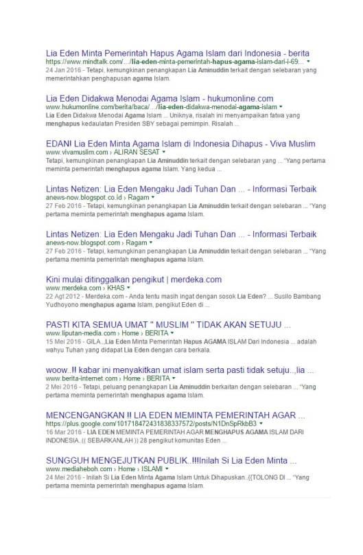 Google Search Eden meminta pemerintah menghapus agama Islam (5)