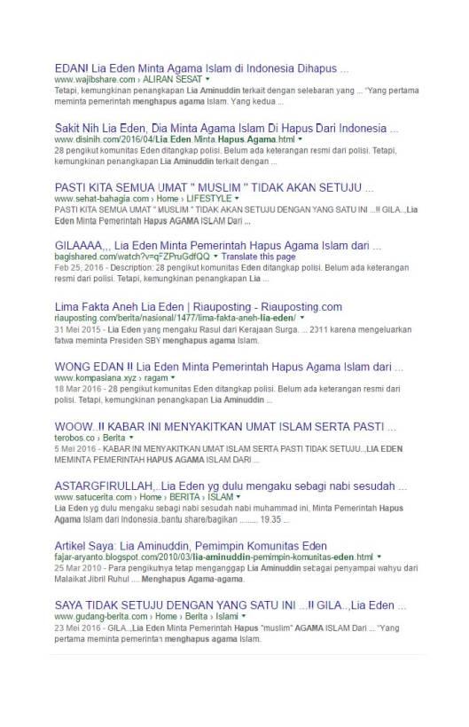 Google Search Eden meminta pemerintah menghapus agama Islam (7)