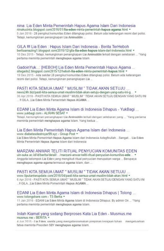 Google Search Eden meminta pemerintah menghapus agama Islam (8)