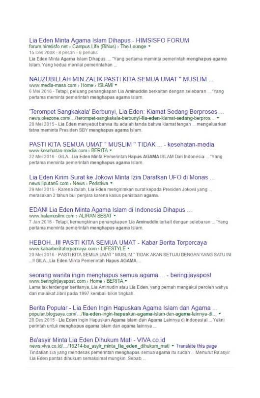 Google Search Eden meminta pemerintah menghapus agama Islam (9)